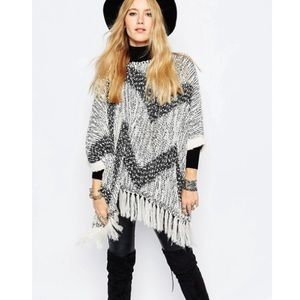 Sunshine Soul Boho Oversized Poncho Sweater
